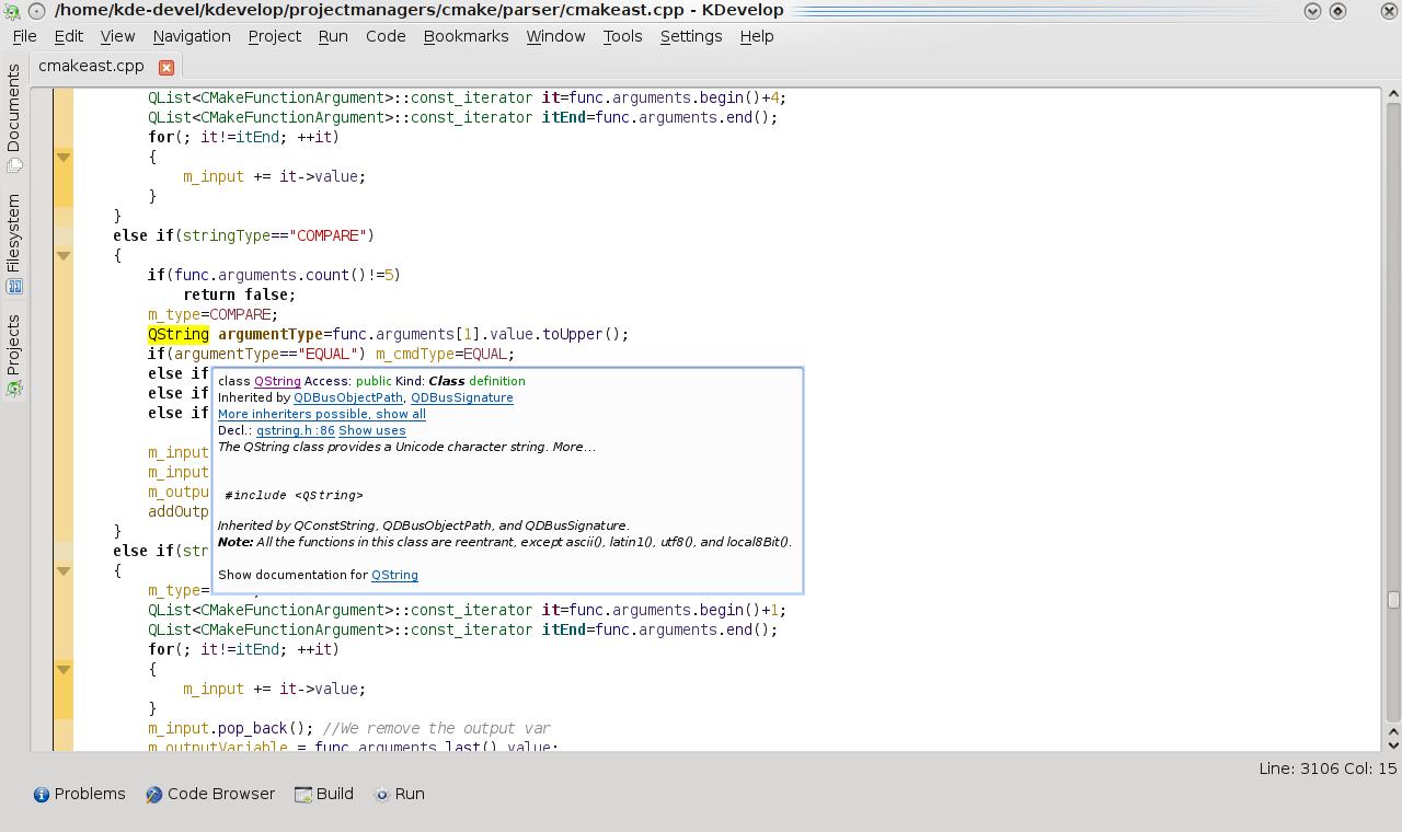 KDevelop4's Documentation Integration – TheBlindCow